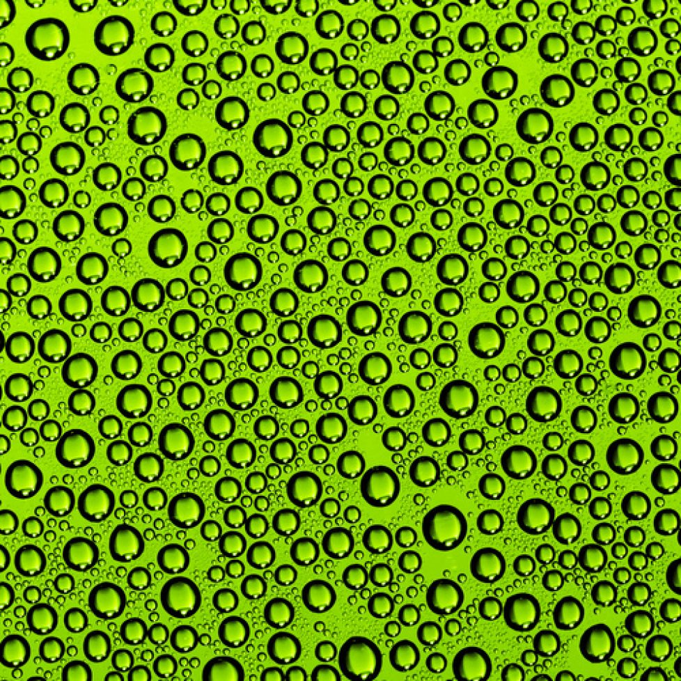 Green Bubbles design drum wrap