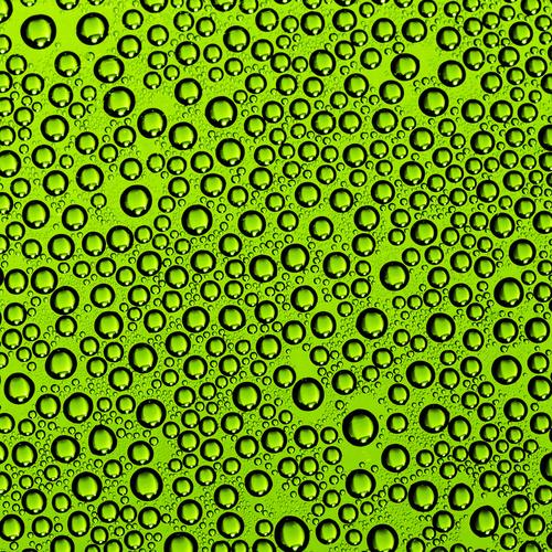 Green Bubbles design drum wrap