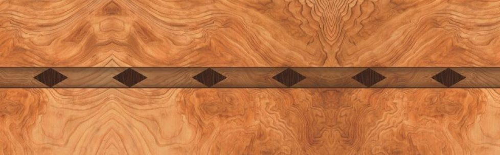 Bubinga Diamond Wood Inlay