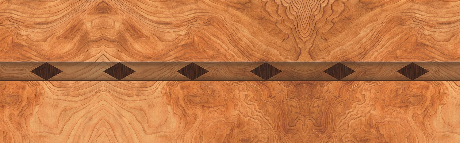 Bubinga Diamond Inlay