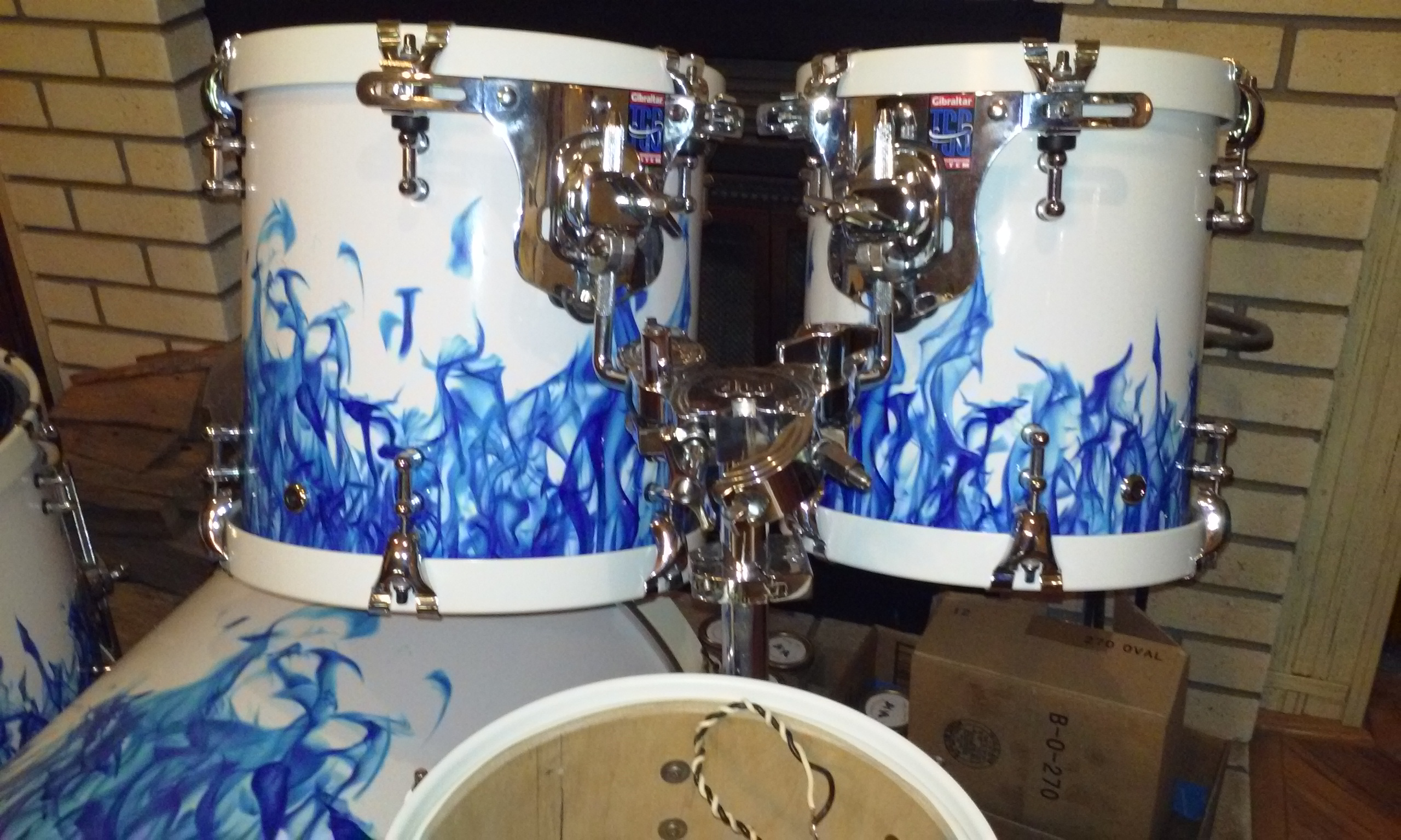 Blue Flame Drum Wrap After