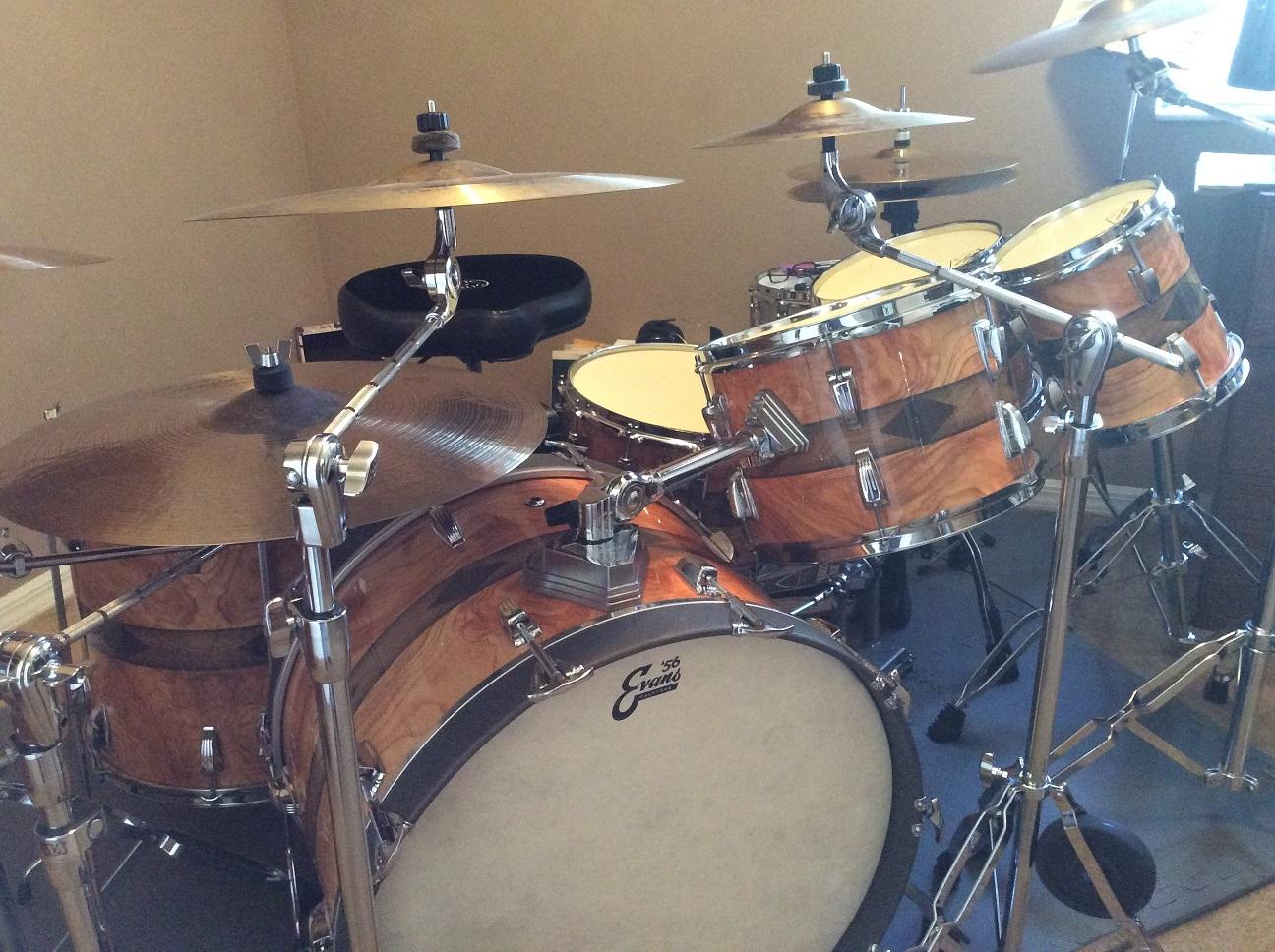 Wood Inlay Drum Wrap