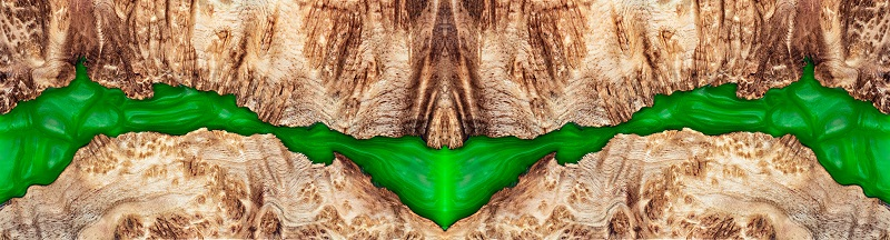 Casting epoxy resin Stabilizing Leza burl wood abstract art background